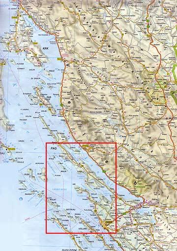 vir sziget térkép Napfényes Adria, Vir szigeti elösátras telepített lakókocsik  vir sziget térkép